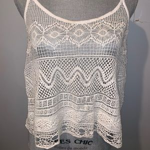 Hollister lace crop tank